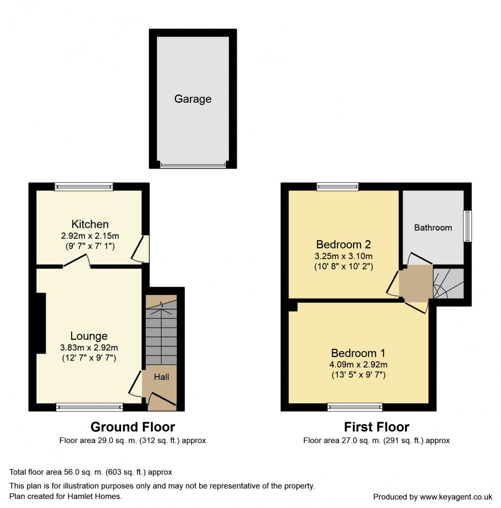 Floorplan for Marlborough Drive, Walton-Le-Dale